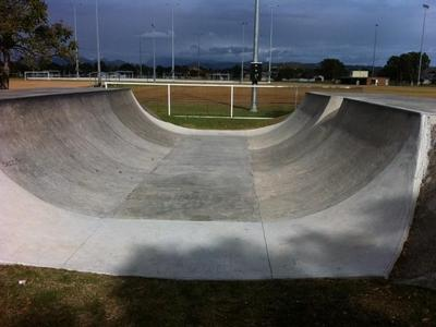 Palm Beach Concrete Half Pipe
