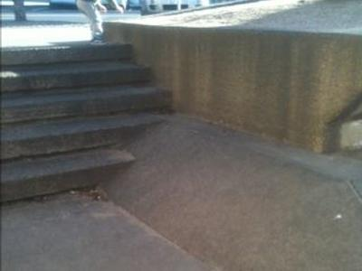 Waterfront stairs to bank